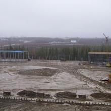 Строительство площадки для переработки грузов
